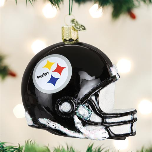 "Old World Christmas Glass Ornament - ""Pittsburgh Steelers Helmet"""