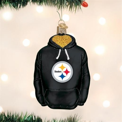 """Old World Christmas Glass Ornament - """"Pittsburgh Steelers Hoodie"""""""