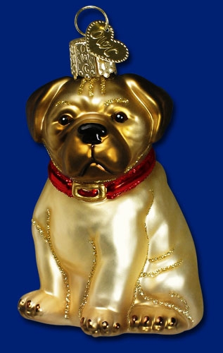 "Old World Christmas Glass Ornament  - ""Pugsley"""