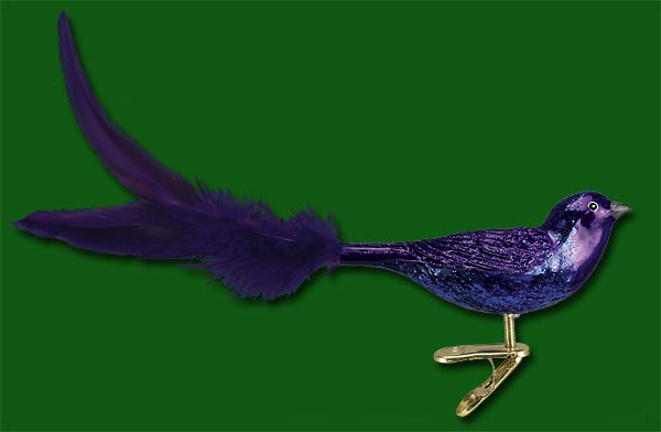 "Old World Christmas Glass Ornament  - ""Purple Martin"""
