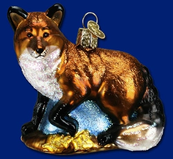 "Old World Christmas  Glass Ornament  - ""Red Fox"""
