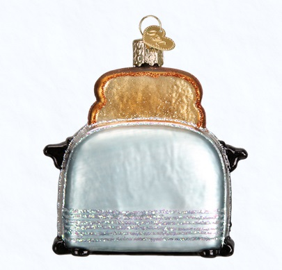 """Old World Christmas Glass Ornament - """"Retro Toaster"""""""