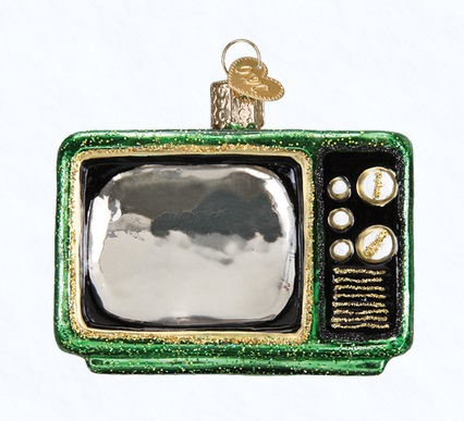 "Old World Christmas Glass Ornament - ""Retro Tube TV"""