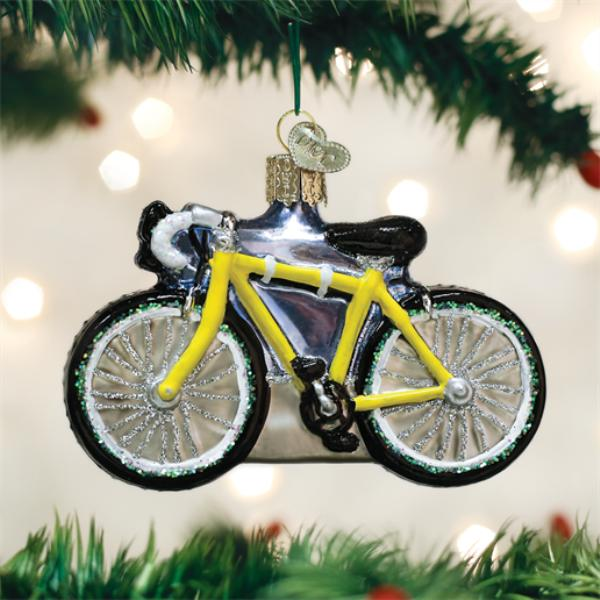 "Old World Christmas Glass Ornament - ""Road Bike"""
