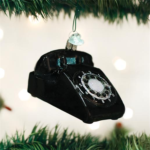 "Old World Christmas Glass Ornament - ""Rotary Phone"""