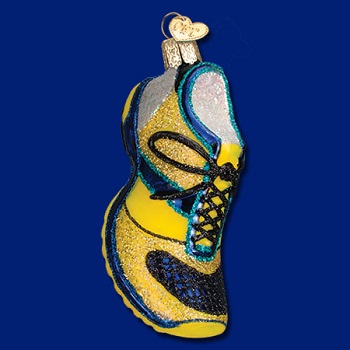 "Old World Christmas Glass Ornament - ""Running Shoe"""