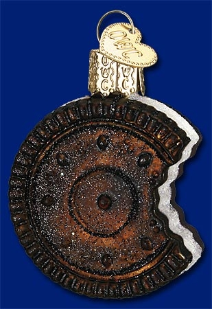 "Old World Christmas Glass Ornament - ""Sandwich Cookie"""
