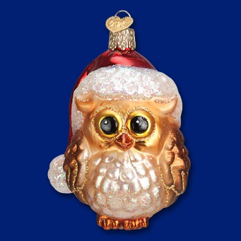 "Old World Christmas Glass Ornament - ""Santa Owl"""