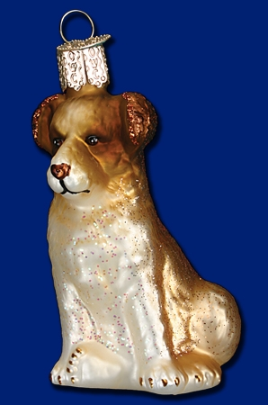 "Old World Christmas Glass Ornament - ""Shepherd Puppy"""