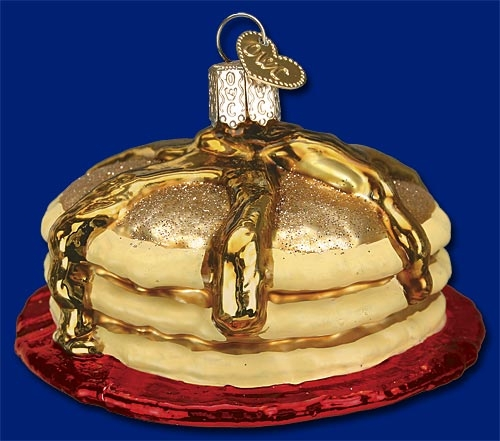 "Old World Christmas Glass Ornament - ""Short Stack"""