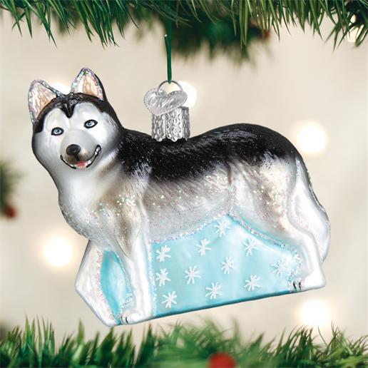 "Old World Christmas Glass Ornament - ""Siberian Husky"""