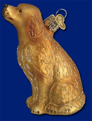"Old World Christmas Glass Ornament - ""Sitting Golden"""
