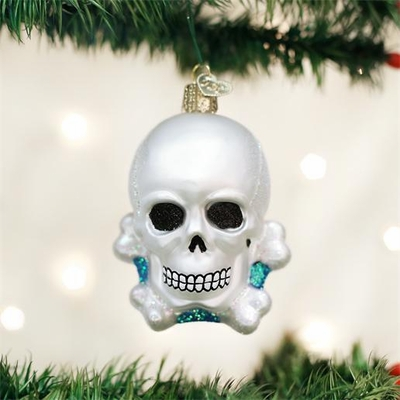"Old World Christmas Glass Ornament - ""Skull and Crossbones"""