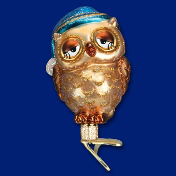 "Old World Christmas Glass Ornament - ""Sleepy Owl"""