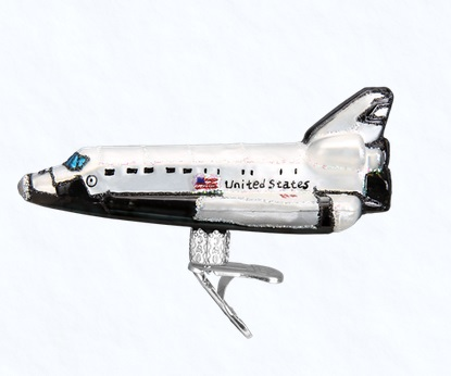 "Old World Christmas Glass Ornament - ""Space Shuttle"""