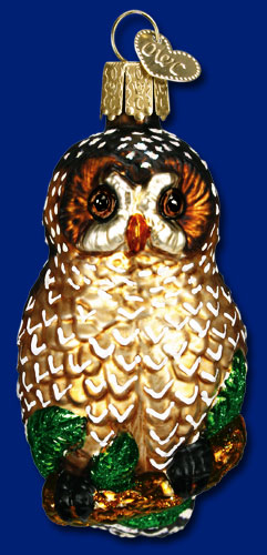 "Old World Christmas Glass Ornament - ""Spotted Owl"""