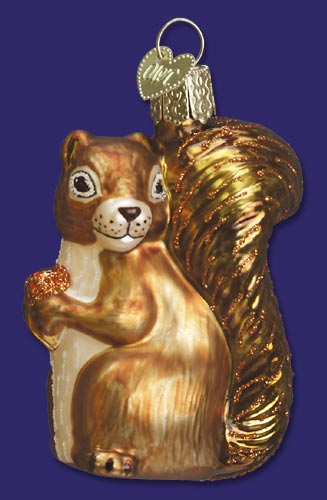 "Old World Christmas Glass Ornament - ""Squirrel"""