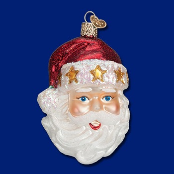 "Old World Christmas Glass Ornament - ""Starry Hat Santa"""