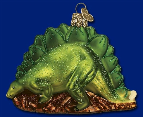 "Old World Christmas Glass Ornament - ""Stegosaurus"""