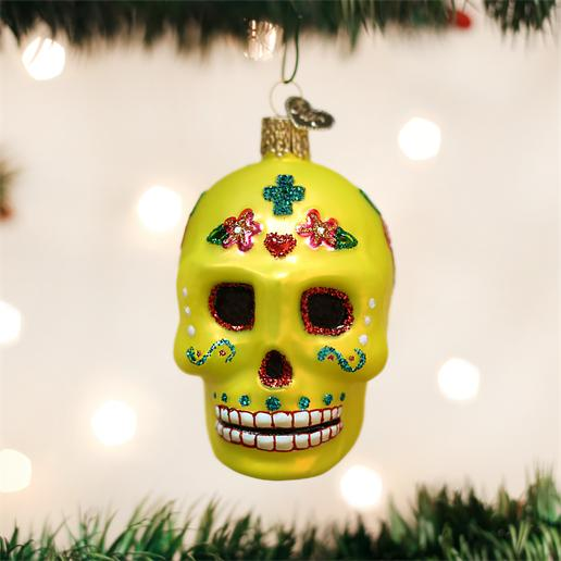 "Old World Christmas Glass Ornament - ""Sugar Skull"""