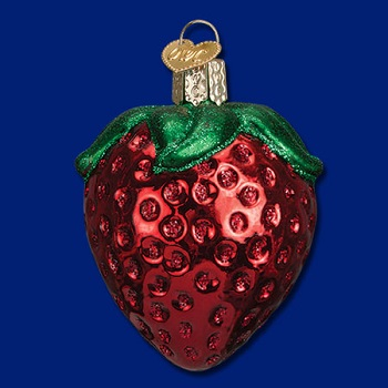 "Old World Christmas Glass Ornament - ""Summer Strawberry"""