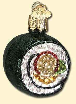 "Old World Christmas Glass Ornament - ""Sushi Roll"""