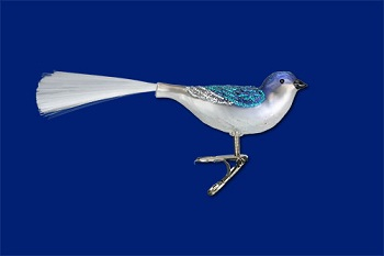 """Old World Christmas Glass Ornament - """"Swallow"""""""
