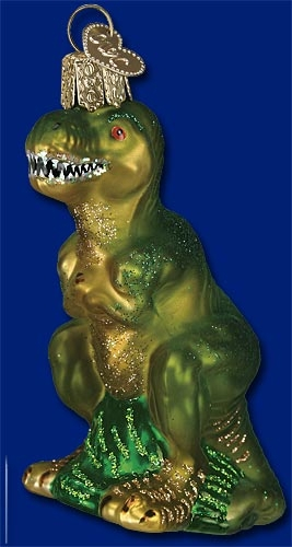 "Old World Christmas Glass Ornament - ""T Rex"""