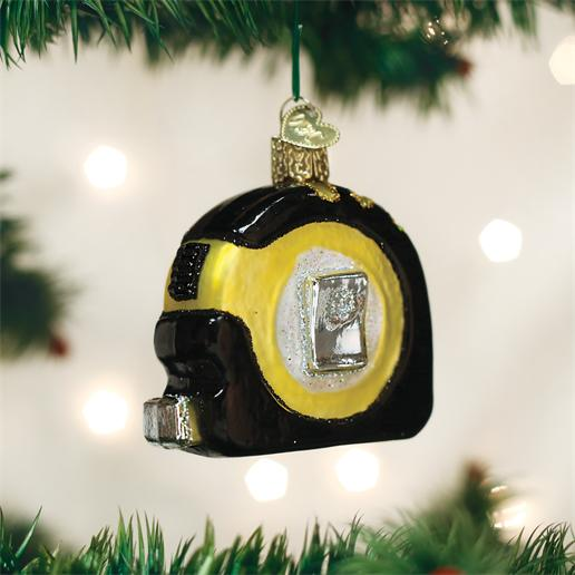 "Old World Christmas Glass Ornament - ""Tape Measure"""