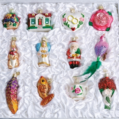 "Old World Christmas Glass Ornament - ""The Bride's Tree Collection"" - FREE Shipping Item! Use code BRIDEFREESHIP at checkout!"
