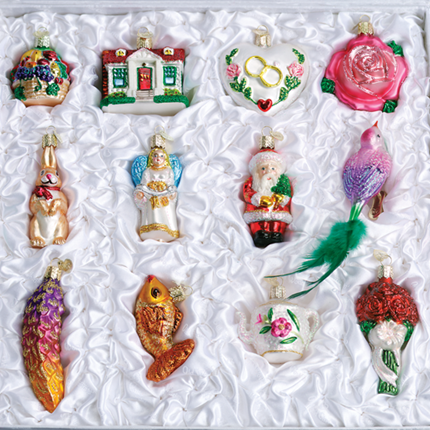 old world christmas glass ornament the brides tree collection free shipping item - Christmas Decoration Sets