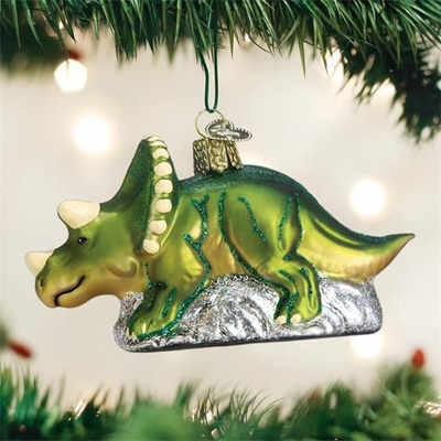 "Old World Christmas Glass Ornament - ""Triceratops"""