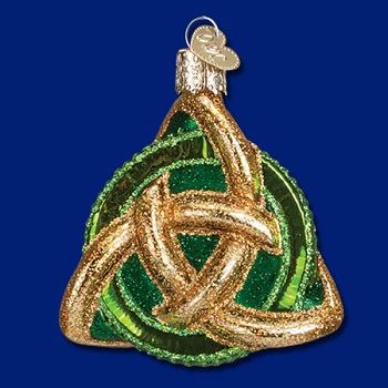 "Old World Christmas Glass Ornament - ""Trinity Knot"""
