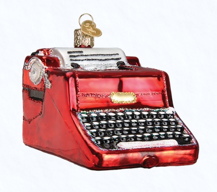 "Old World Christmas Glass Ornament - ""Typewriter"""