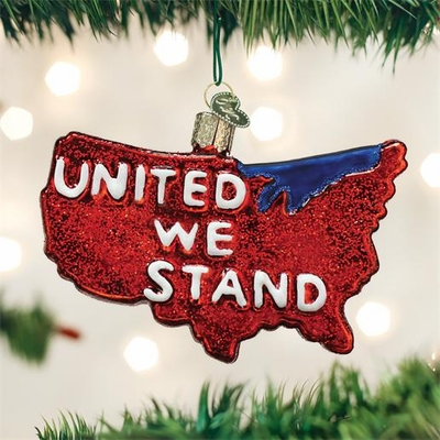 "Old World Christmas Glass Ornament - ""United We Stand"""