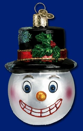 "Old World Christmas Glass Ornament - ""Vintage Snowman"""
