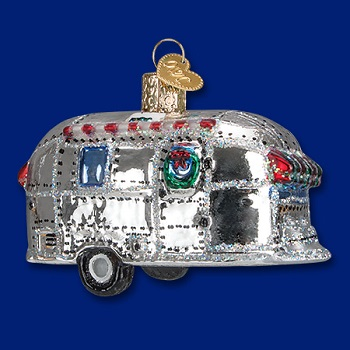 "Old World Christmas Glass Ornament - ""Vintage Trailer"""