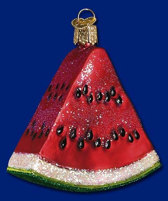 """Old World Christmas Glass Ornament  - """"Watermelon Wedge"""""""