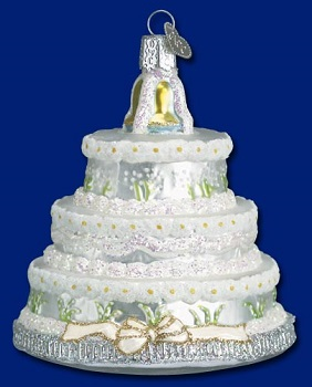Old World Christmas Glass Ornament - Wedding Cake