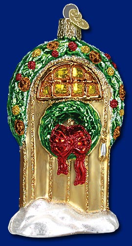 "Old World Christmas Glass Ornament  - ""Welcome Home"""