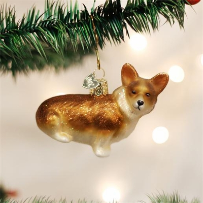 "Old World Christmas Glass Ornament - ""Welsh Corgi"""
