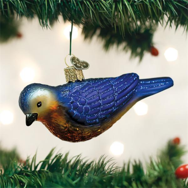 "Old World Christmas Glass Ornament - ""Western Bluebird"""