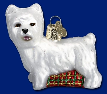 "Old World Christmas Glass Ornament  - ""Westie"""