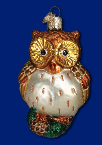 "Old World Christmas Glass Ornament - ""Wide Eyed Owl"""