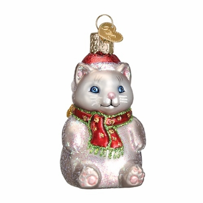 "Old World Christmas Glass Ornament - ""Winter Kitty"""