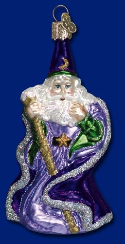 "Old World Christmas Glass Ornament - ""Wizard"""