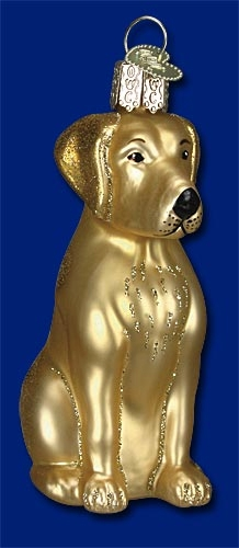 "Old World Christmas Glass Ornament - ""Yellow Lab"""