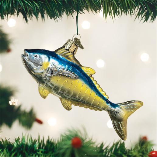 "Old World Christmas Glass Ornament - ""Yellowfin Tuna"""