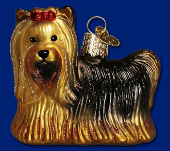 "Old World Christmas Glass Ornament - ""Yorkie"""