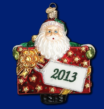 "Old World Christmas Glass Ornarment - ""2013 Special Delivery"""